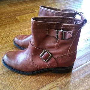 Dolce Vita Simone Brown Leather Boots